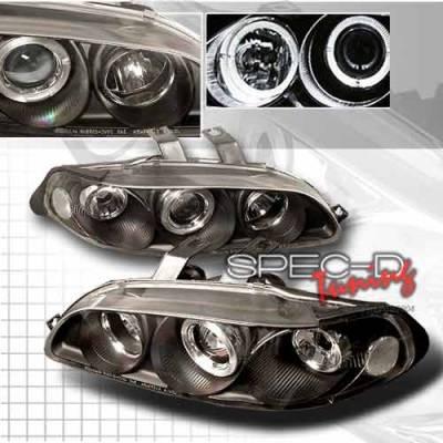Headlights & Tail Lights - Headlights - Custom Disco - Honda Civic 4DR Custom Disco Black Projector Headlights - 1PC - LHP-CV92JM