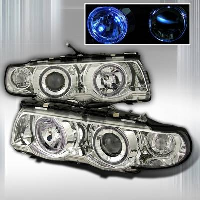 Headlights & Tail Lights - Headlights - Custom Disco - BMW 7 Series Custom Disco Clear Projector Headlights - LHP-E3895-OR