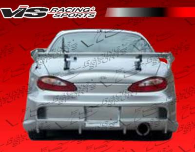 Tiburon - Rear Bumper - VIS Racing - Hyundai Tiburon VIS Racing Invader-2 Rear Bumper - 97HYTIB2DINV2-002