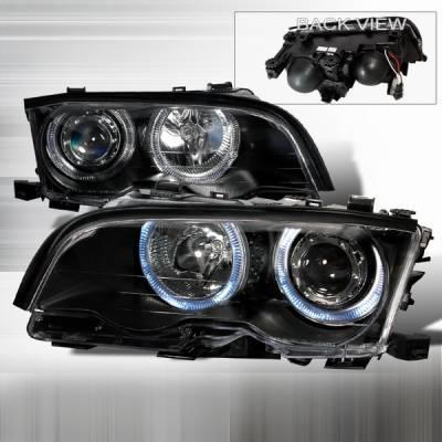 Headlights & Tail Lights - Headlights - Custom Disco - BMW 3 Series Custom Disco Black Projector Headlights - LHP-E46024JM-KS
