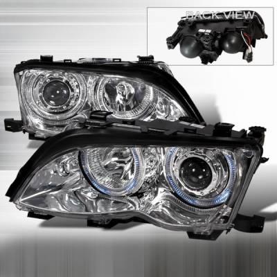 Headlights & Tail Lights - Headlights - Custom Disco - BMW 3 Series Custom Disco Clear Projector Headlights - LHP-E46024-KS