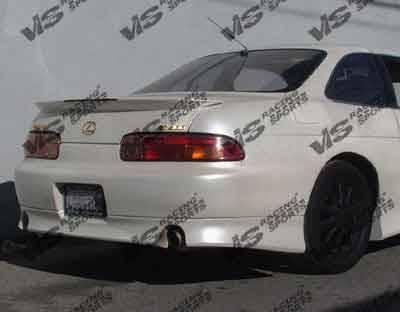 SC - Rear Bumper - VIS Racing - Lexus SC VIS Racing V Speed Rear Lip - 97LXSC32DVSP-012