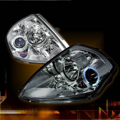 Headlights & Tail Lights - Headlights - Custom Disco - Mitsubishi Eclipse Custom Disco Clear Projector Headlights - LHP-ELP00B-YD