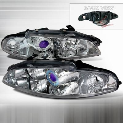 Headlights & Tail Lights - Headlights - Custom Disco - Mitsubishi Eclipse Custom Disco Chrome Projector Headlights - LHP-ELP97B