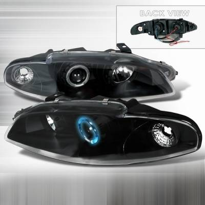 Headlights & Tail Lights - Headlights - Custom Disco - Mitsubishi Eclipse Custom Disco Black Projector Headlights - LHP-ELP97JM