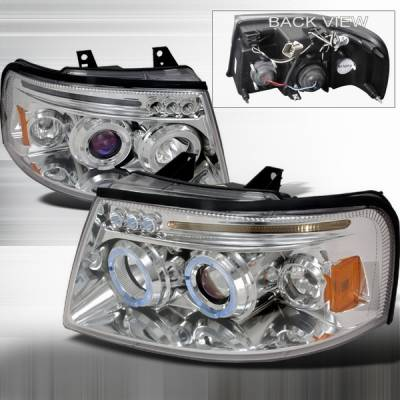Headlights & Tail Lights - Headlights - Custom Disco - Ford Expedition Custom Disco Projector Headlights - LHP-EPED03B-TM