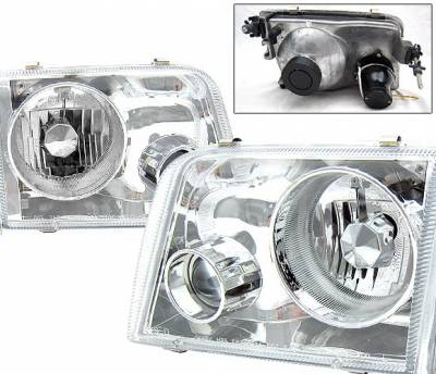 Headlights & Tail Lights - Headlights - 4 Car Option - Ford Ranger 4 Car Option Projector Headlights - Chrome - LP-FR93CC-9