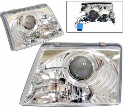 Headlights & Tail Lights - Headlights - 4 Car Option - Ford Ranger 4 Car Option Halo Projector Headlights - Chrome - LP-FR98CB-YD
