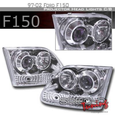 Headlights & Tail Lights - Headlights - Custom Disco - Ford Expedition Custom Disco Clear Projector Headlights - LHP-F15097B