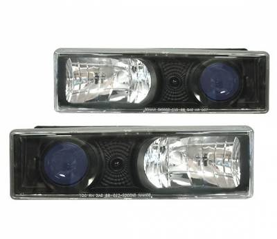 Headlights & Tail Lights - Headlights - 4 Car Option - Chevrolet C10 4 Car Option Projector Headlights - Black - LP-GC88BB-YD