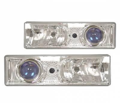Headlights & Tail Lights - Headlights - 4 Car Option - Chevrolet C10 4 Car Option Projector Headlights - Chrome - LP-GC88CB-YD