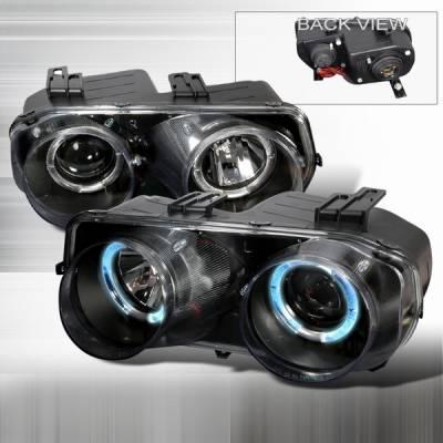 Headlights & Tail Lights - Headlights - Custom Disco - Acura Integra Custom Disco Black Projector Headlights - LHP-INT94JM-YD
