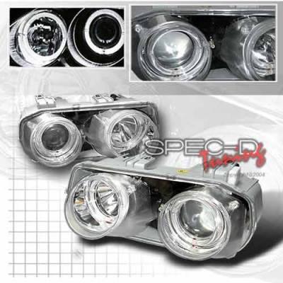 Headlights & Tail Lights - Headlights - Custom Disco - Acura Integra Custom Disco Chrome Projector Headlights - LHP-INT94-KS