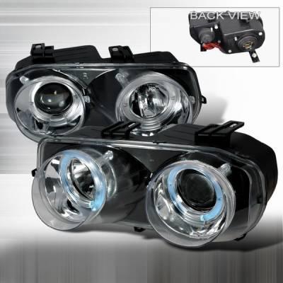 Headlights & Tail Lights - Headlights - Custom Disco - Acura Integra Custom Disco Chrome Projector Headlights - LHP-INT94-YD