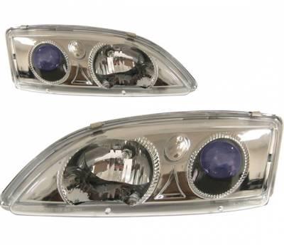 Headlights & Tail Lights - Headlights - 4 Car Option - Chevrolet Cavalier 4 Car Option Projector Headlights - Black - LP-GCA95BB-KS