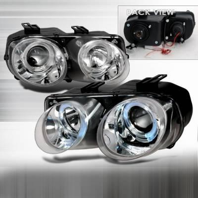 Headlights & Tail Lights - Headlights - Custom Disco - Acura Integra Custom Disco Chrome Projector Headlights - LHP-INT98-YD