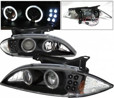 Headlights & Tail Lights - Headlights - 4 Car Option - Chevrolet Cavalier 4 Car Option Projector Headlights - Black - LP-GCA95BC-YD