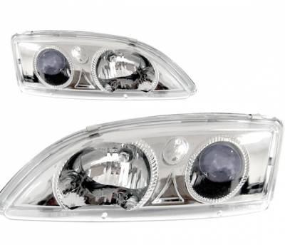 Headlights & Tail Lights - Headlights - 4 Car Option - Chevrolet Cavalier 4 Car Option Projector Headlights - Chrome - LP-GCA95CB-KS