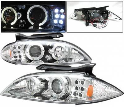 Headlights & Tail Lights - Headlights - 4 Car Option - Chevrolet Cavalier 4 Car Option Projector Headlights - Chrome - LP-GCA95CC-YD