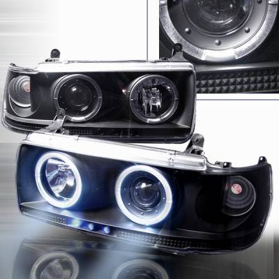 Headlights & Tail Lights - Headlights - Custom Disco - Toyota Land Cruiser Custom Disco Black Projector Headlights - LHP-LCR90JM-YD