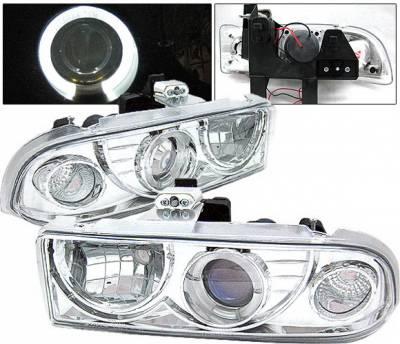 Headlights & Tail Lights - Headlights - 4 Car Option - Chevrolet S10 4 Car Option Halo Projector Headlights - Chrome - LP-GS98CC-YD