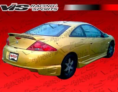 Cougar - Rear Bumper - VIS Racing - Mercury Cougar VIS Racing Striker Rear Bumper - 99MYCOU2DSTR-002