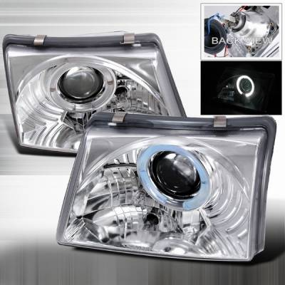 Headlights & Tail Lights - Headlights - Custom Disco - Ford Ranger Custom Disco Chrome Projector Headlights - LHP-RAN98-YD