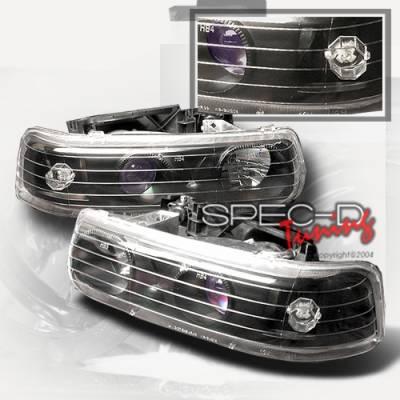 Headlights & Tail Lights - Headlights - Custom Disco - Chevrolet Silverado Custom Disco Non-Halo Projector Headlights - LHP-SIV99JM