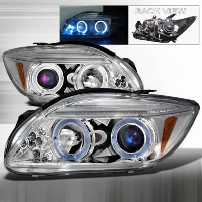 Headlights & Tail Lights - Headlights - Custom Disco - Scion tC Custom Disco Chrome Halo Projector Headlights - LHP-TC05B-TM