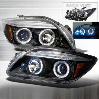 Headlights & Tail Lights - Headlights - Custom Disco - Scion tC Custom Disco Black Halo Projector Headlights - LHP-TC05JMB-TM
