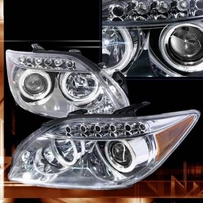Headlights & Tail Lights - Headlights - Custom Disco - Scion tC Custom Disco Chrome LED Halo Projector Headlights - LHP-TC05-KS
