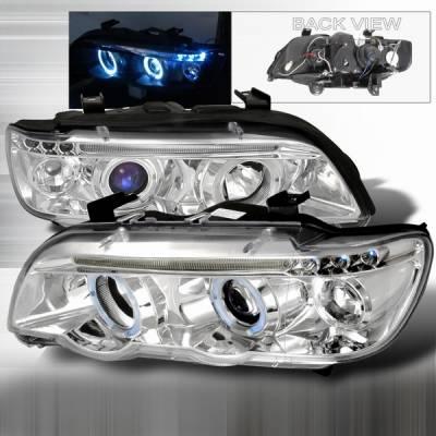 Headlights & Tail Lights - Headlights - Custom Disco - BMW X5 Custom Disco Chrome Projector Headlights - LHP-X500-TM