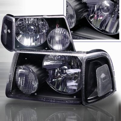Headlights & Tail Lights - Headlights - Custom Disco - Ford Ranger Custom Disco Black Headlights - LH-RAN01JM-KS