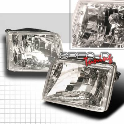 Headlights & Tail Lights - Headlights - Custom Disco - Ford Ranger Custom Disco Chrome Headlights - LH-RAN93-KS