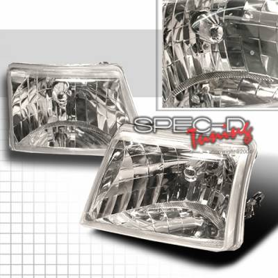 Headlights & Tail Lights - Headlights - Custom Disco - Ford Ranger Custom Disco Chrome Headlights - LH-RAN98-KS