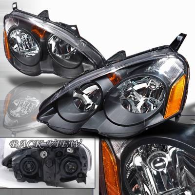 Headlights & Tail Lights - Headlights - Custom Disco - Acura RSX Custom Disco JDM Black Headlights - LH-RSX02JM-TYC