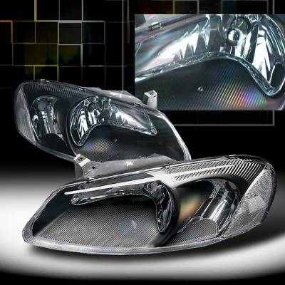 Headlights & Tail Lights - Headlights - Custom Disco - Chrysler Sebring Custom Disco Black Headlights - LH-SEB01JM-KS