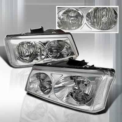 Headlights & Tail Lights - Headlights - Custom Disco - Chevrolet Silverado Custom Disco Crystal Headlights - LH-SIV03-KS