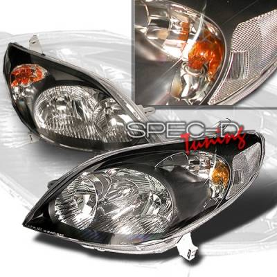 Headlights & Tail Lights - Headlights - Custom Disco - Toyota Matrix Custom Disco Black Headlights - LH-TRIX03JM-KS