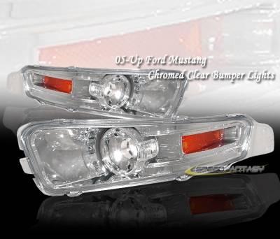 Headlights & Tail Lights - Corner Lights - Custom - Chrome Amber Turn Signal Light