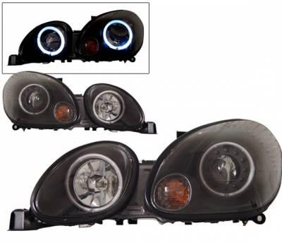 Headlights & Tail Lights - Headlights - 4 Car Option - Lexus GS 4 Car Option Halo Projector Headlights - Black CCFL - LP-LGS98BC-KS
