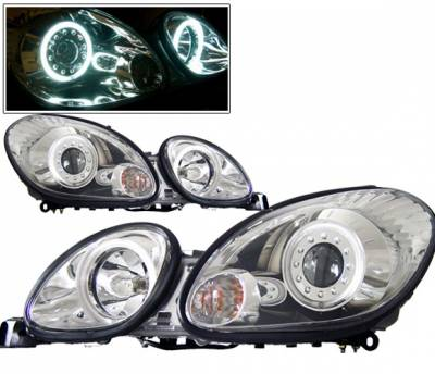 Headlights & Tail Lights - Headlights - 4 Car Option - Lexus GS 4 Car Option Halo Projector Headlights - Chrome CCFL - LP-LGS98CC-KS