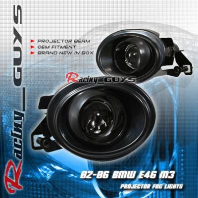 Headlights & Tail Lights - Fog Lights - Custom - OEM BLACK PROJECTOR FOG LIGHT