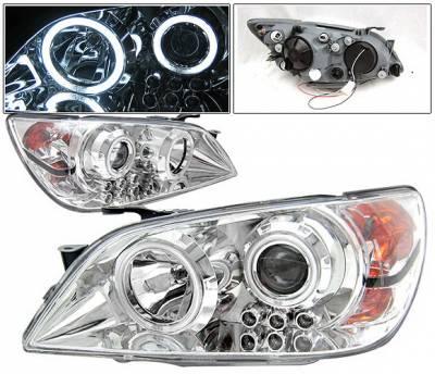 Headlights & Tail Lights - Headlights - 4 Car Option - Lexus IS 4 Car Option Halo Projector Headlights - Chrome CCFL - LP-LIS300CB-KS