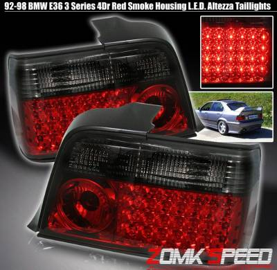 Headlights & Tail Lights - Led Tail Lights - Custom - RED Smoke LED Altezza Tail Light