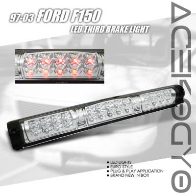 Headlights & Tail Lights - Led Tail Lights - Custom - Chrome Clear LED Third Brake Light