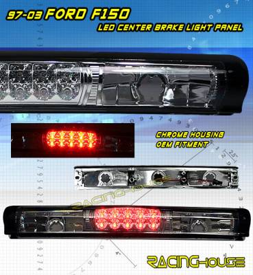 Headlights & Tail Lights - Led Tail Lights - Custom - Chrome LED Third Brake Light