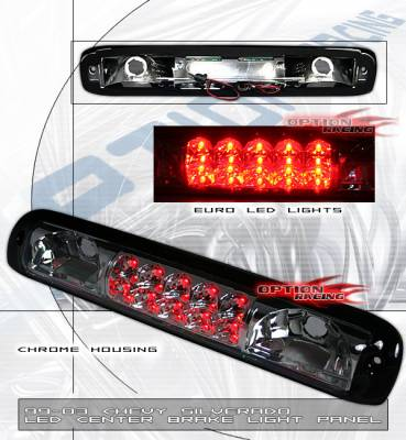 Headlights & Tail Lights - Led Tail Lights - Custom - Chrome Red LED Third Brake Light