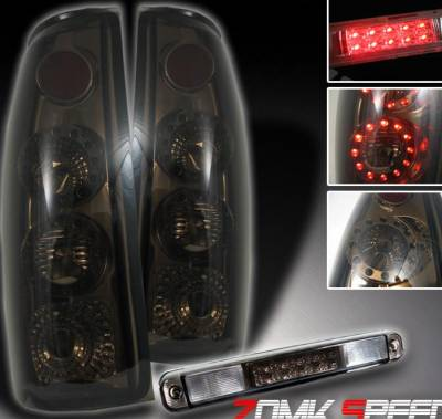 Headlights & Tail Lights - Led Tail Lights - Custom - Smoke LED Taillights With Third Brake Light