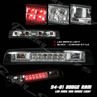 Headlights & Tail Lights - Third Brake Lights - Custom - Black Chrome LED Third Brake Light